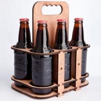 מנשא לבקבוקי זכוכית עשוי מע