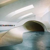 פארק החלקה של סקייטבורד בתוך מוזיאון