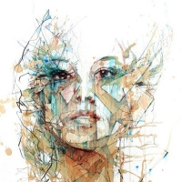 האומן Carne Griffiths יוצר ציורים