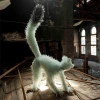 פסלי חיות משברי זכוכיות של