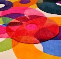 שטיח עיגולים מצמר ניו זילנד