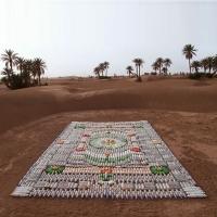 שטיח מבקבוקים ממוחזרים