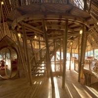 כפר שעשוי כולו מבמבוק בתכנו